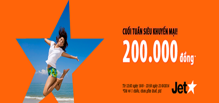 Ve may bay khuyen mai Jetstar