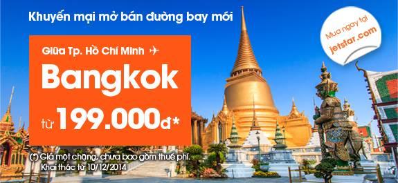 Vé máy bay Jetstar Hồ Chí Minh đi Bangkok
