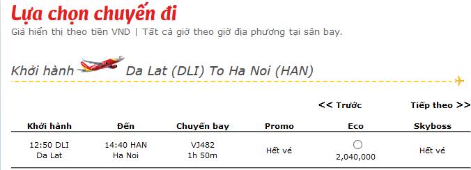 Vé máy bay Tết Vietjet Air đi Hà nội