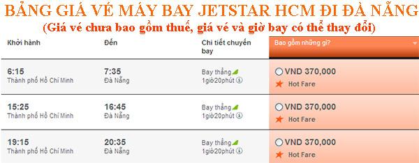Vé máy bay giá rẻ tphcm đi Đà nẵng Jetstar