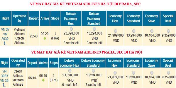 Đặt vé máy bay giá rẻ Hà Nội đi Séc