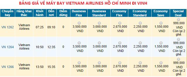 vé máy bay giá rẻ đi Vinh