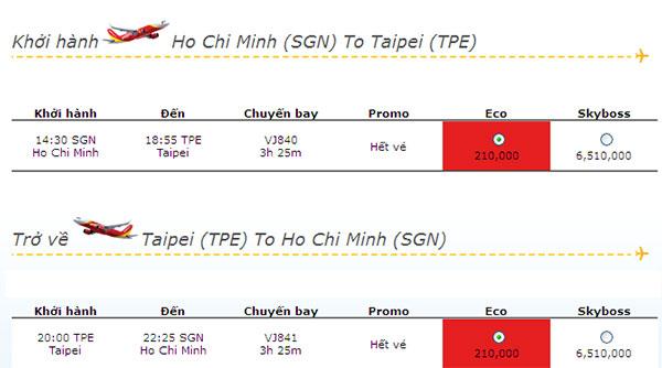 Vé máy bay khuyến mãi đi Đài Loan