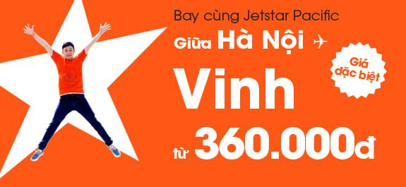 Vé máy bay Jetstar Hà nội đi Vinh