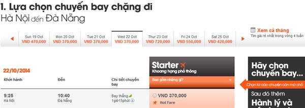 Vé máy bay giá rẻ Jetstar đi Đà nẵng