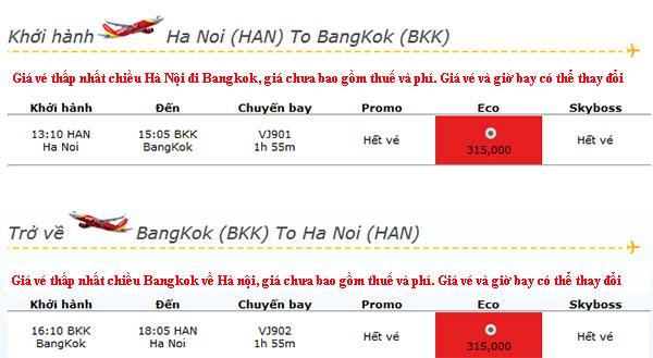 săn vé máy bay khuyến mãi đi Thái Lan