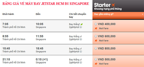 vé máy bay giá rẻ Jetstar đi Singapore