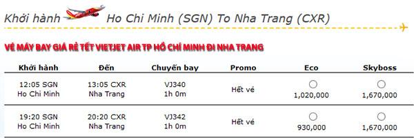 Vé máy bay Tết 2015 đi Nha Trang
