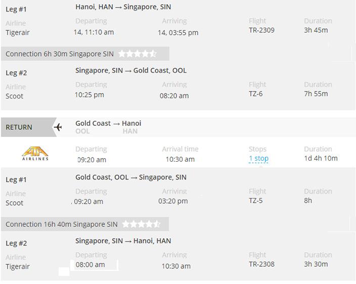 Vé máy bay giá rẻ đi Gold Coast
