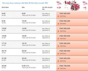 Vé máy bay tết từ Hà nội đi Tp HCM
