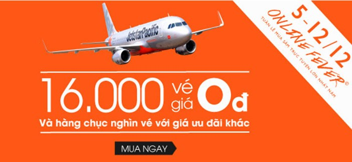 Jetstar khuyến mại 0 đồng