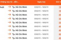 Mua vé máy bay Jetstar khuyến mại đi Tp Hồ Chí Minh Tết 2015