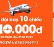 Mua vé máy bay khuyến mại 10,000 đồng Jetstar