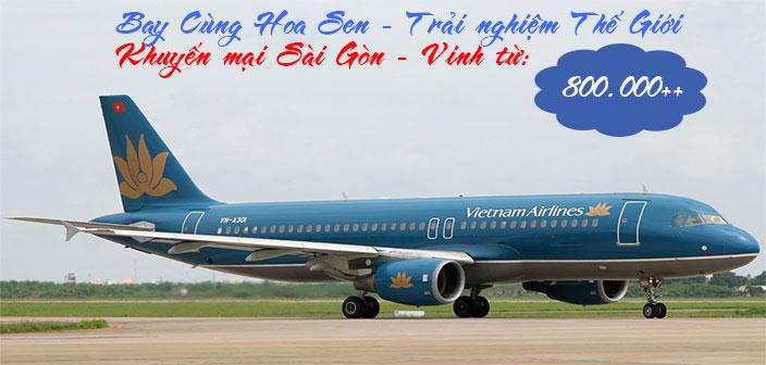Vé máy bay từ Sài Gòn về Vinh giá rẻ nhất