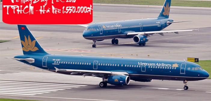 Vé máy bay Vietnam Airlines Tết TPHCM Hà Nội giá rẻ nhất