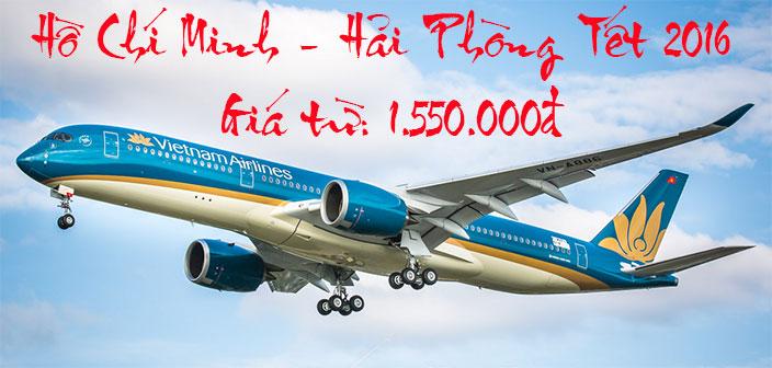 Mua vé Vietnam Airlines TPHCM đi Hải Phòng Tết 2016