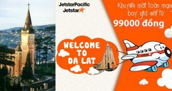 Vé máy bay từ TPHCM ra Đà Lạt giá rẻ Jetstar