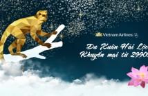 Đặt vé máy bay Vietnam Airlines khuyến mại giá từ 299000 đồng