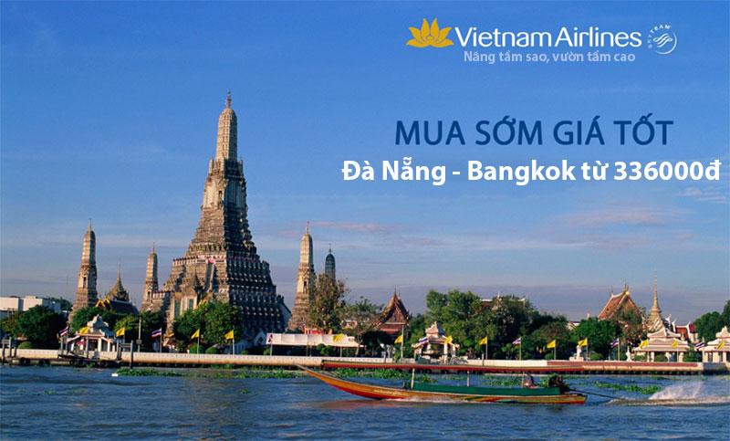 Vé máy bay Đà Nẵng Bangkok Vietnam Airlines giá khuyến mại từ 336000đ