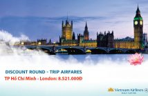 Vé máy bay đi Luân Đôn Vietnam Airlines